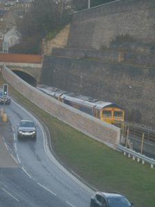 Borders Railway Galashiels, testing the line