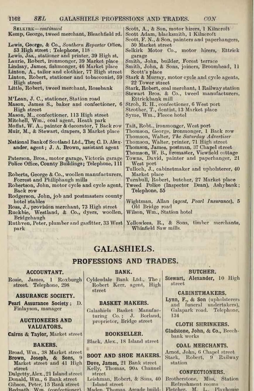 1922 telephone directory