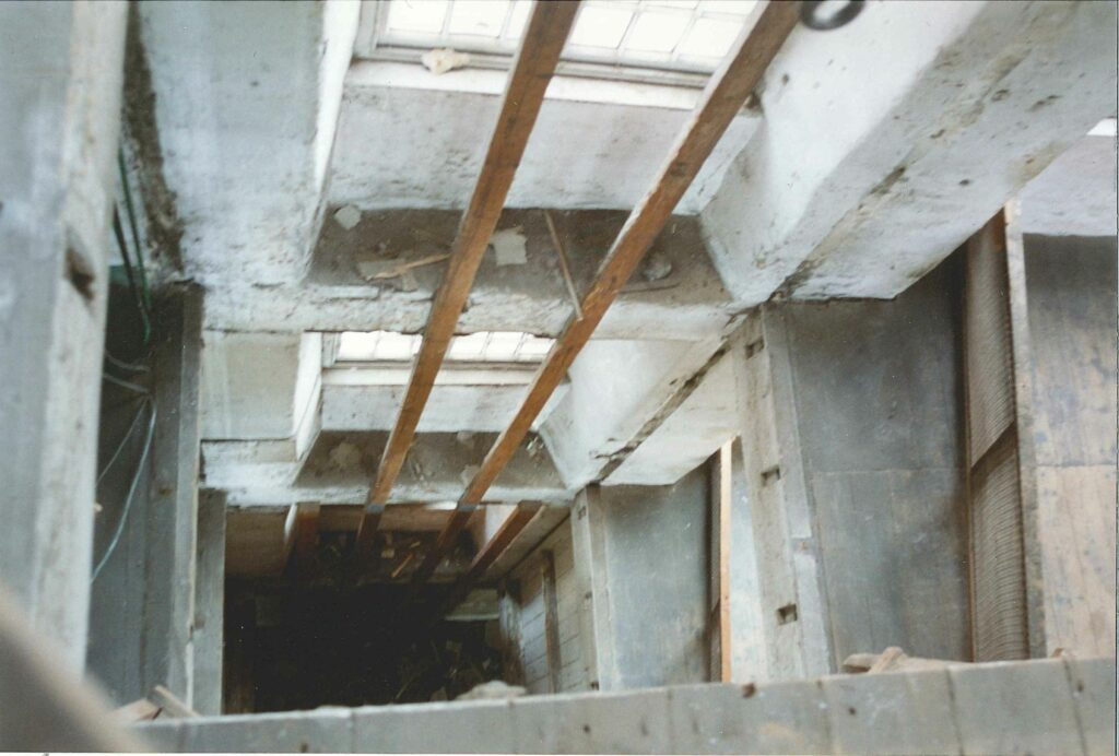 Riverside House during conversion internals#1 - thankfully now the stairwell